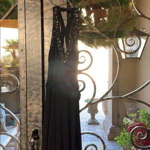Bcbg black sequin maxi dress